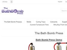 Bath bomb press