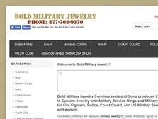 Bold military jewelry