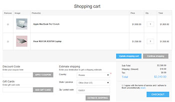 nopCommerce checkout