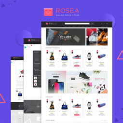 Picture of Nop Rosea Theme, responsive + 8 plugins (nop-station.com)