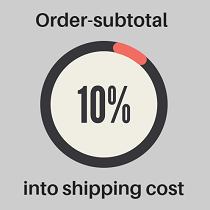 Discount on shipping cost depends on order subtotal