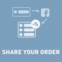 Discount when sharing an order on Facebook