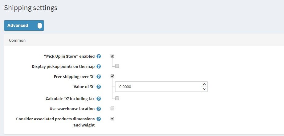 Better UI/UX in admin area. Nested settings