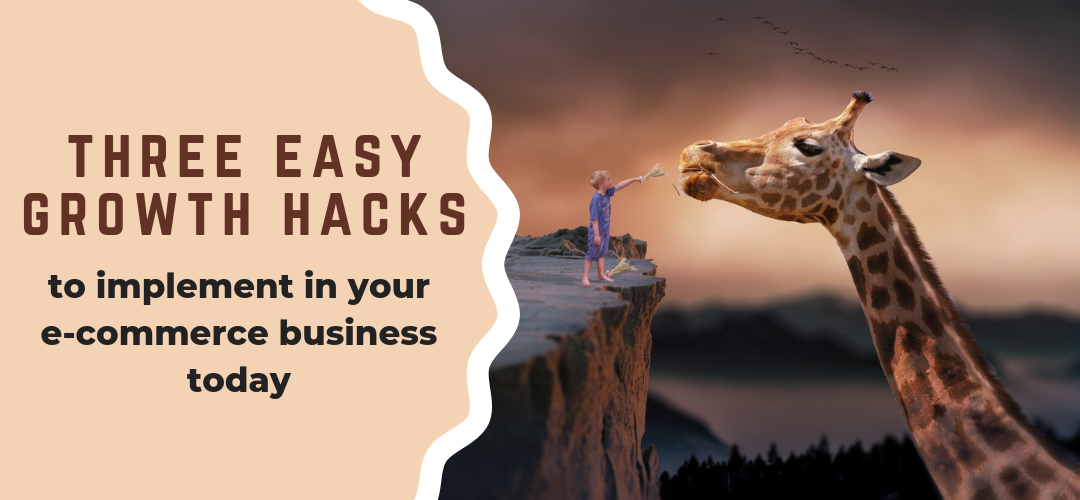 Top 3 easy growth hacks to implement in your e-commerce business today