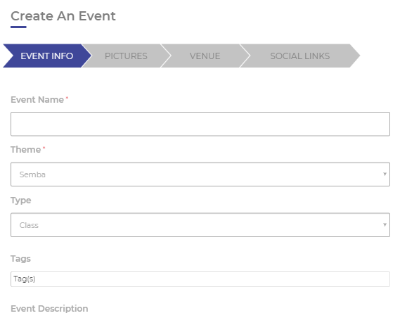 Create an event