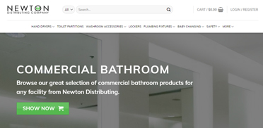 Newton Distributing: redeveloped site doubled conversion rates