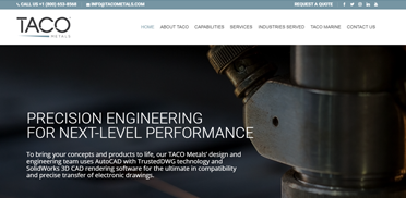 TACO Metals:  new eCommerce website with CMS capabilities