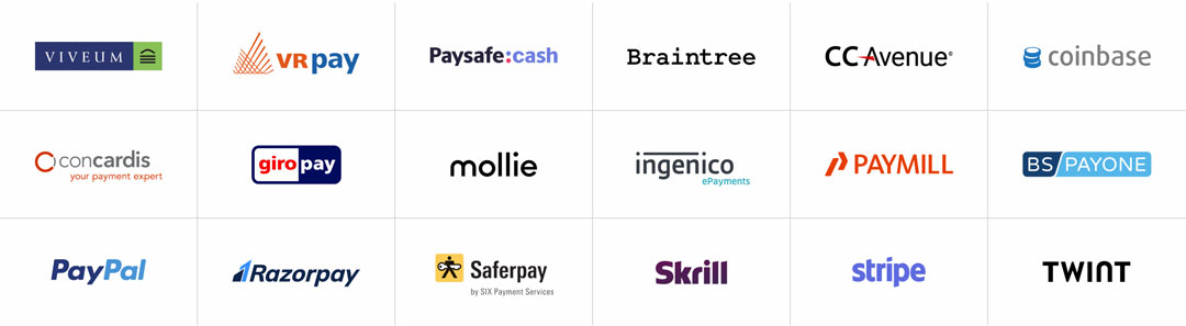 Supported Payment Service Providers