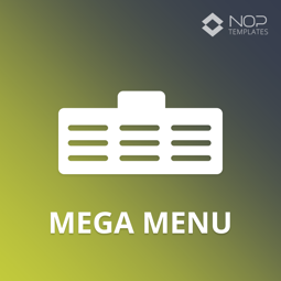 Picture of Nop Mega Menu (Nop-Templates.com)