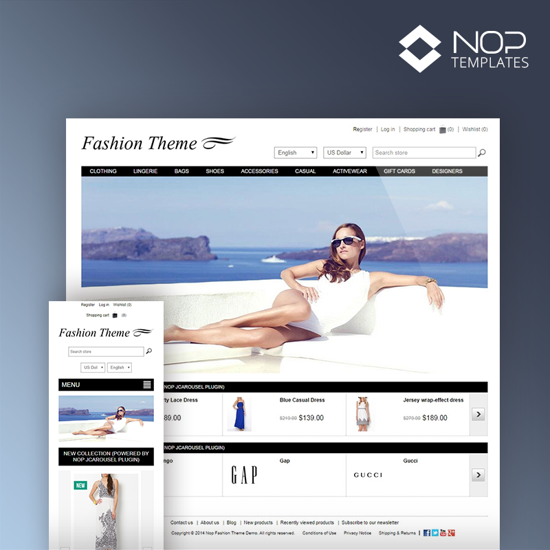 Picture of Nop Fashion Theme + 10 Plugins (Nop-Templates.com)