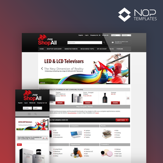 Picture of Nop ShopAll Theme + 10 Plugins (Nop-Templates.com)