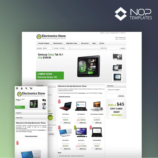 Picture of Nop Electronics Theme + 10 Plugins (Nop-Templates.com)