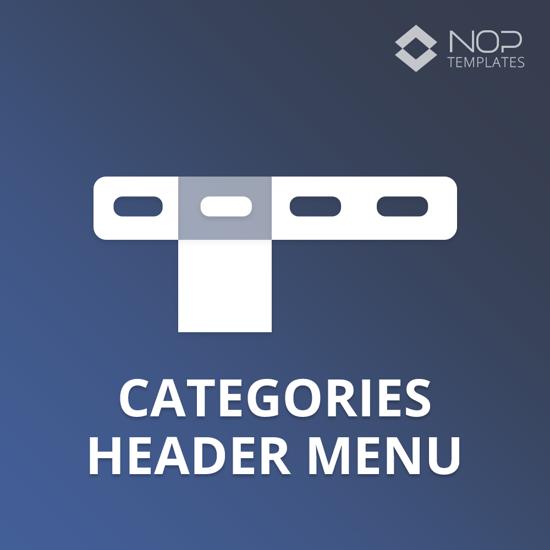 Picture of Nop Categories Header Menu (Nop-Templates.com)