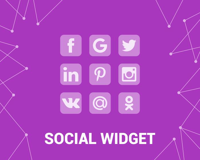 Изображение Social Widget (Facebook, Twitter,  etc) (foxnetsoft.com)