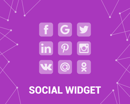 Picture of Social Widget (Facebook, Twitter,  etc) (foxnetsoft.com)