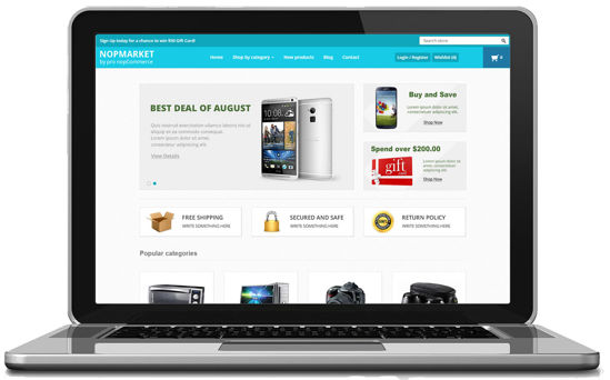 Picture of NopMarket - Responsive Theme Suitable for Marketplace