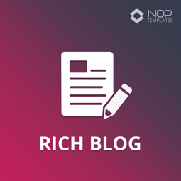 Изображение Nop Rich Blog (Nop-Templates.com)
