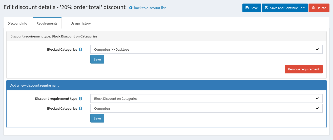 Picture of Block Discount on Category (Atluz)