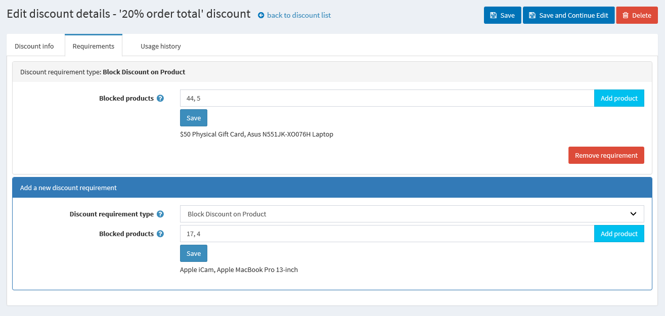 Picture of Block Discount on Product (Atluz)