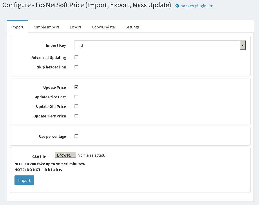 Picture of Price Manager (import, export, update) (foxnetsoft.com)
