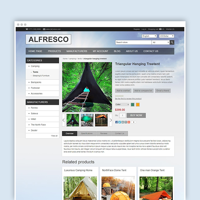 Picture of Nop Alfresco Theme + 10 Plugins (Nop-Templates.com)