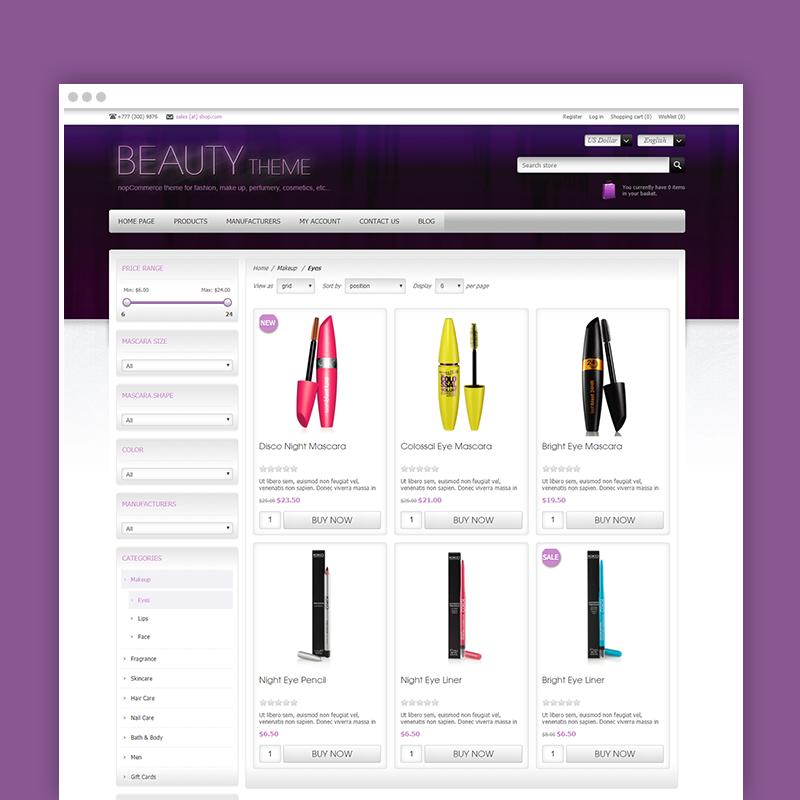 Picture of Nop Beauty Theme + 10 Plugins (Nop-Templates.com)