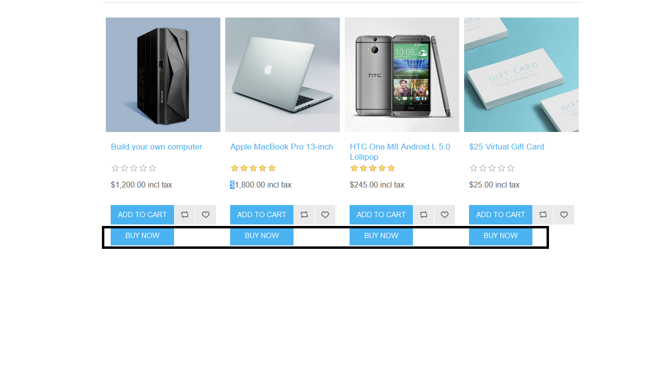 Picture of BuyNow Button On Product & Category Page