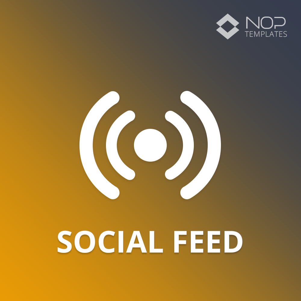 Picture of Nop Social Feed (Nop-Templates.com)