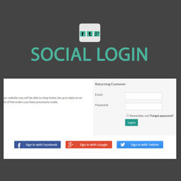 Picture of Pro Social Login Plugin (by nopExtensions.com)