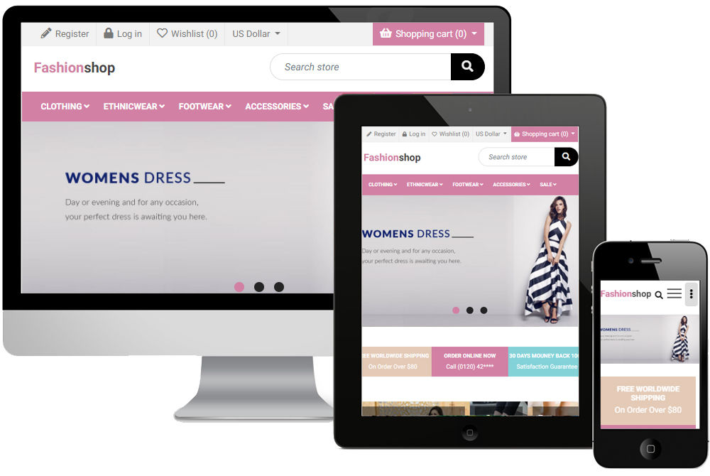 Picture of Fashionshop Theme (Globaltechnologic.com)