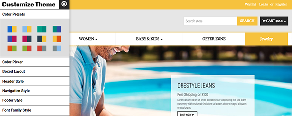 Picture of DreStyle Apparels Theme + Customizer and Holiday Plugin