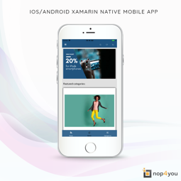 Picture of iOS/Android Xamarin mobile app (nop4you.com)