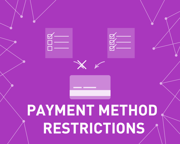 Picture of Payment Method Restrictions (foxnetsoft.com)