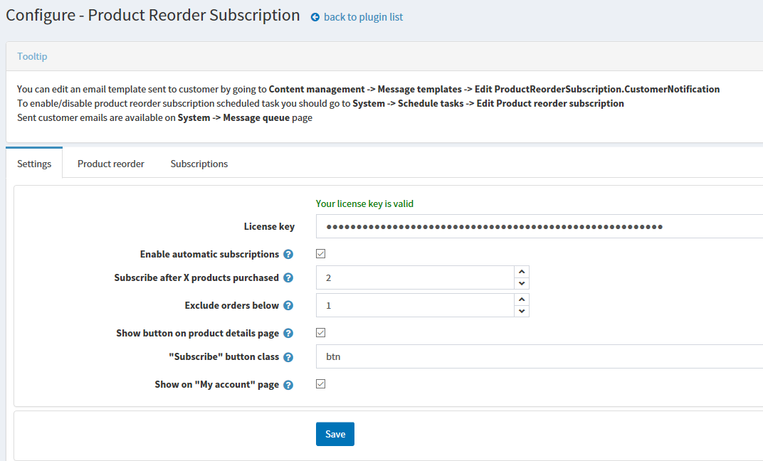 Picture of Product Reorder Subscription (ellasoftware.com)