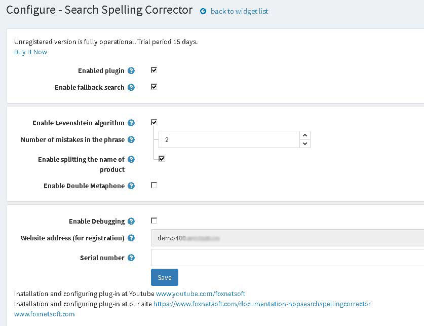 Picture of Search Spelling Corrector (foxnetsoft.com)