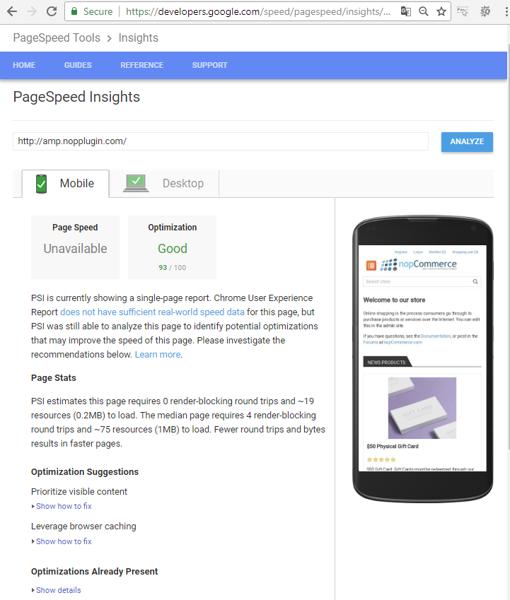 Picture of Google Accelerated Mobile (nopplugin.com)