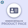 Picture of Vendor Details In Product Page