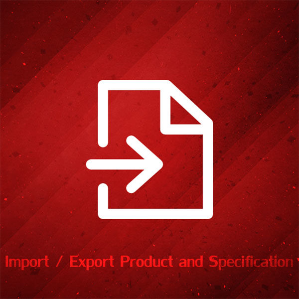 Picture of Import/Export Products and Specification attributes