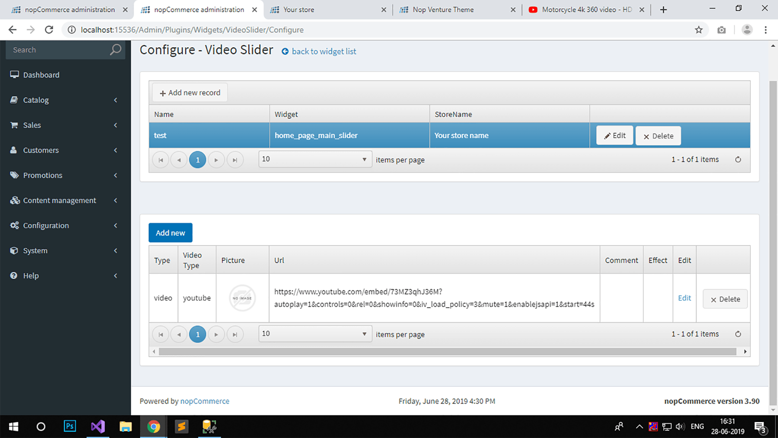 Picture of Video Slider Plugin (By nopCommercePlus)
