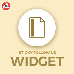 Picture of Sticky Follow Us Widget