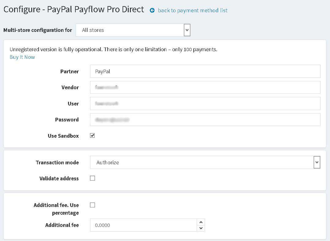 Picture of PayPal Payflow Pro Direct (Credit Card) (foxnetsoft)