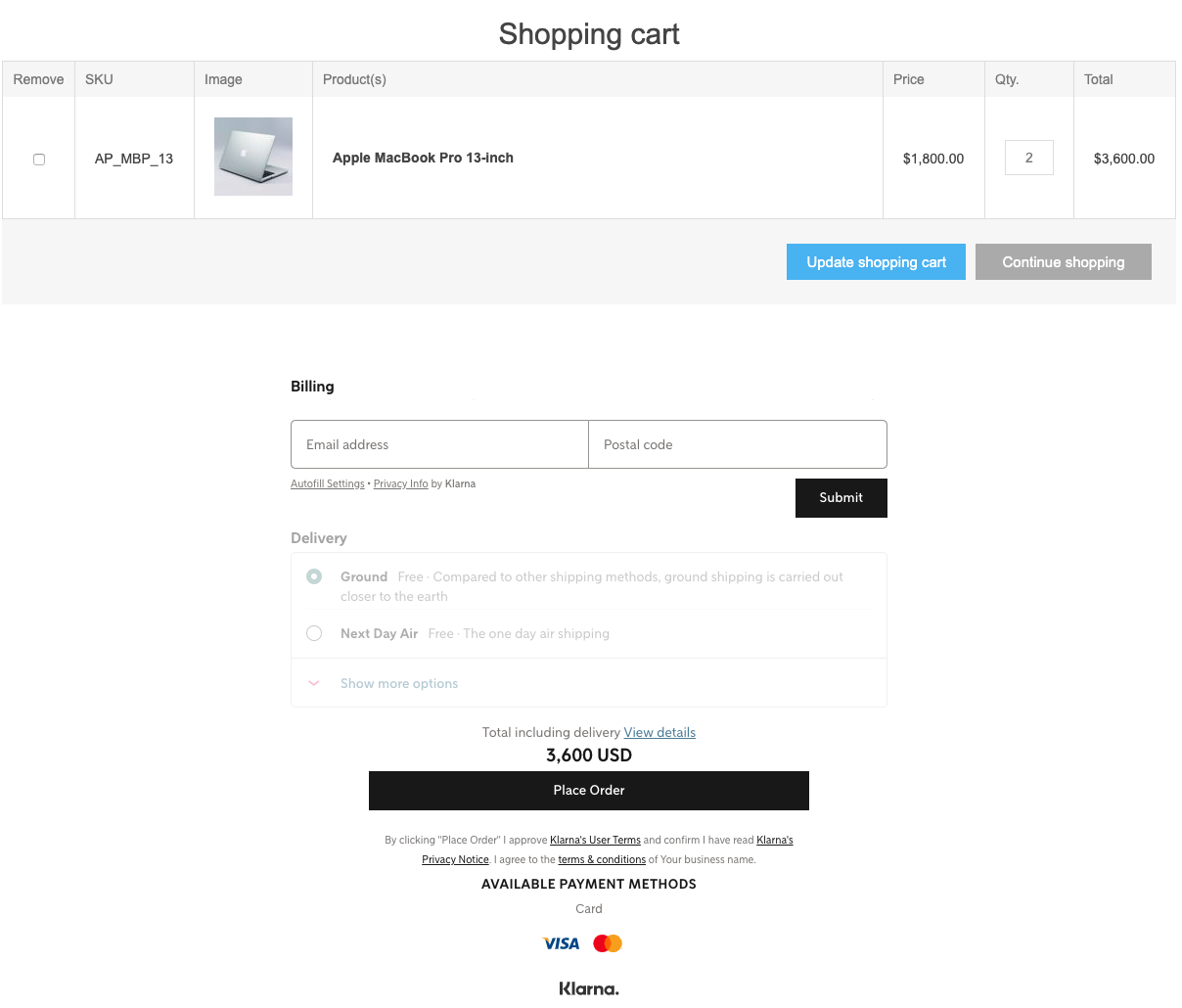 Picture of Klarna Checkout Payment v3