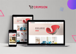 Picture of Nop Crimson theme, responsive + bundle plugins