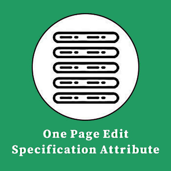 One Page Edit Specification Attribute Product Plugin の画像