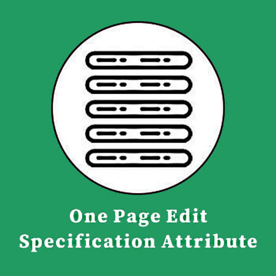 Picture of One Page Edit Specification Attribute Product Plugin