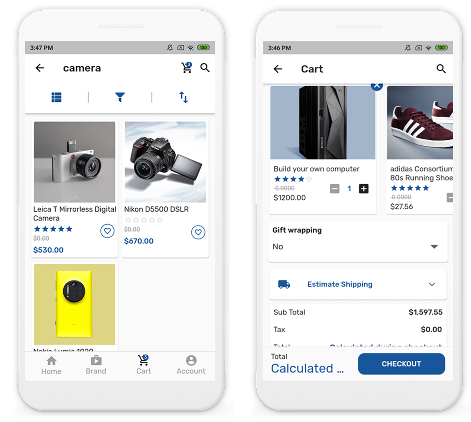 Picture of Customer Mobile App: Flutter (By nopCommercePlus)
