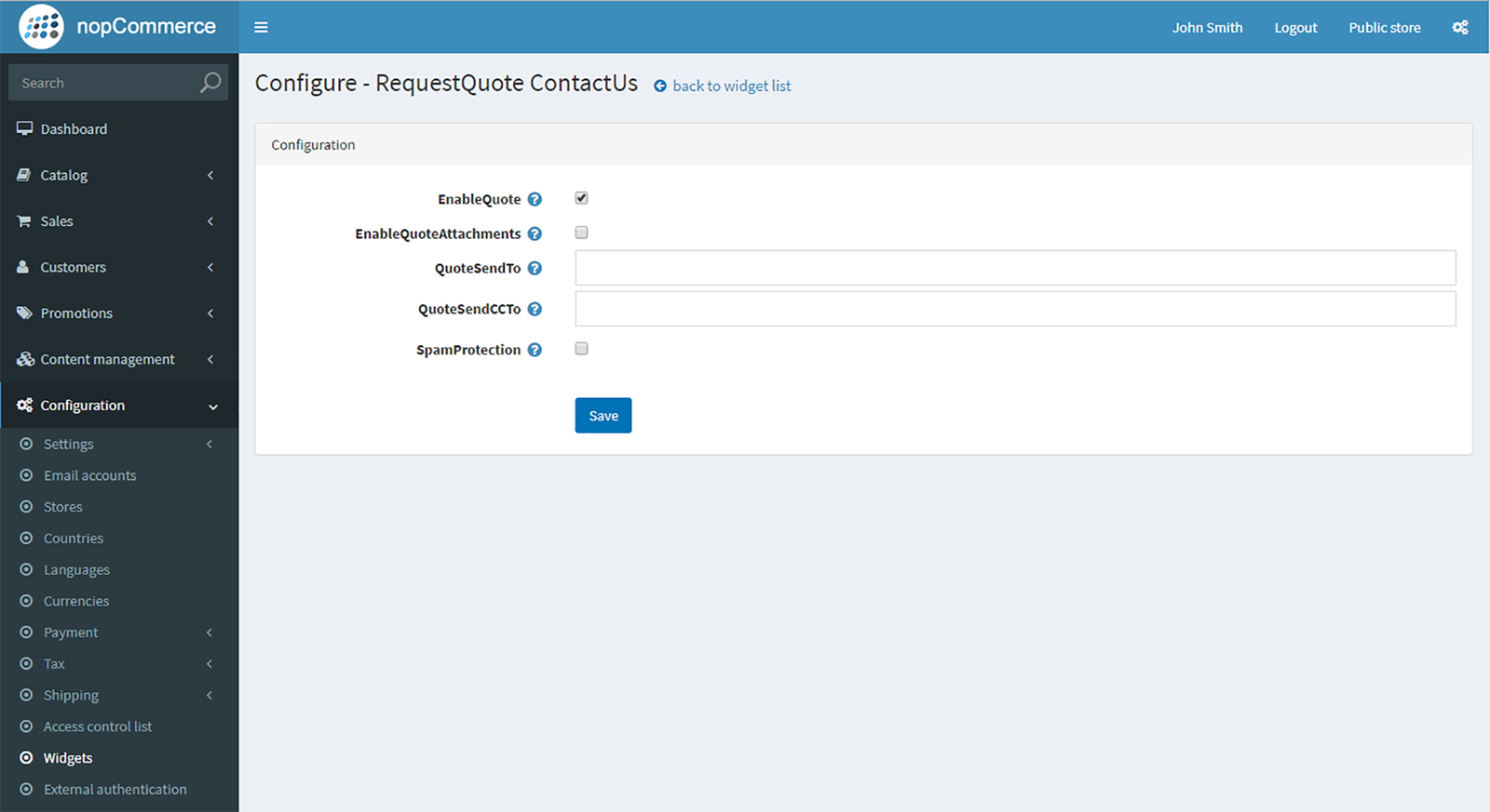 Picture of Request a quote form plugin (by nopCommercePlus)