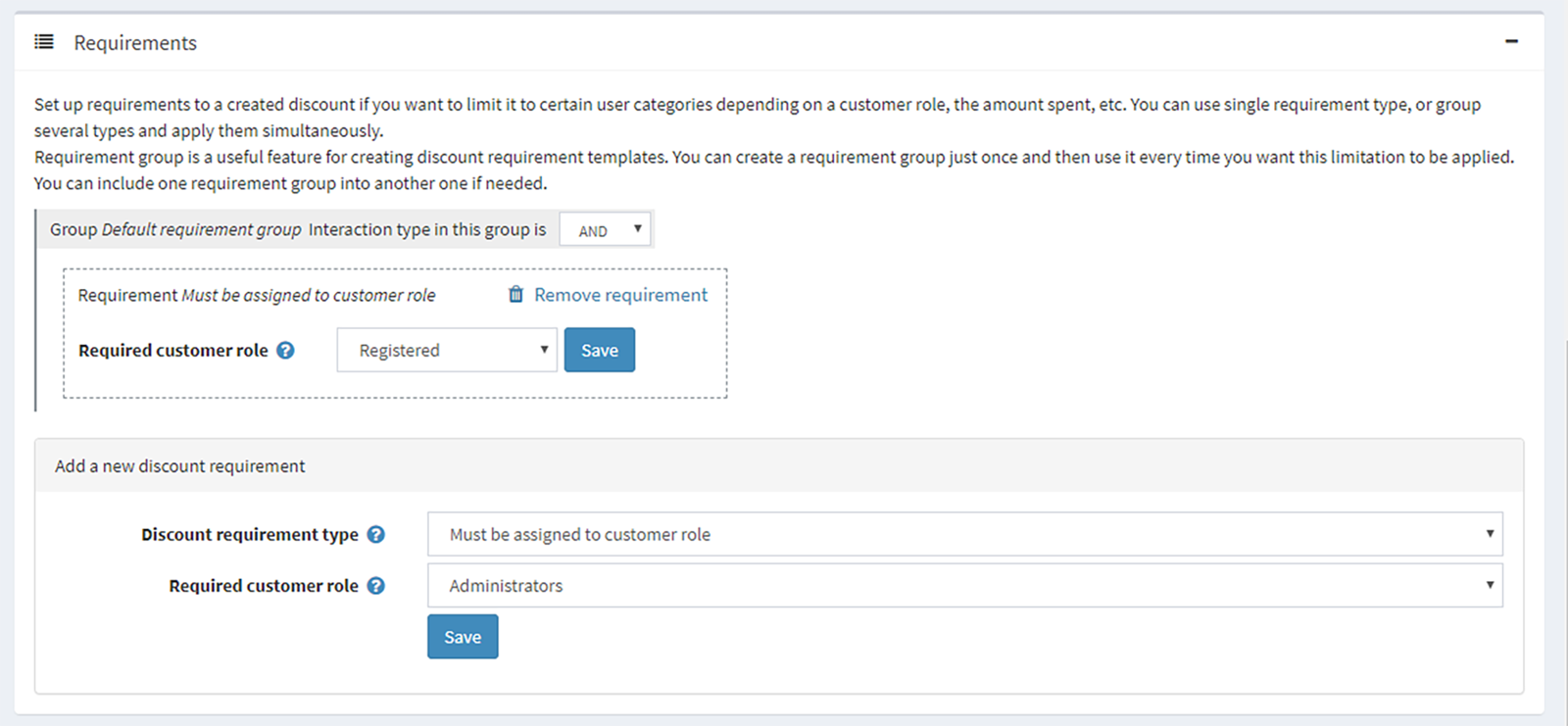 Picture of Discount to Exclude CustomerRole plugin (nopCommercePlus)