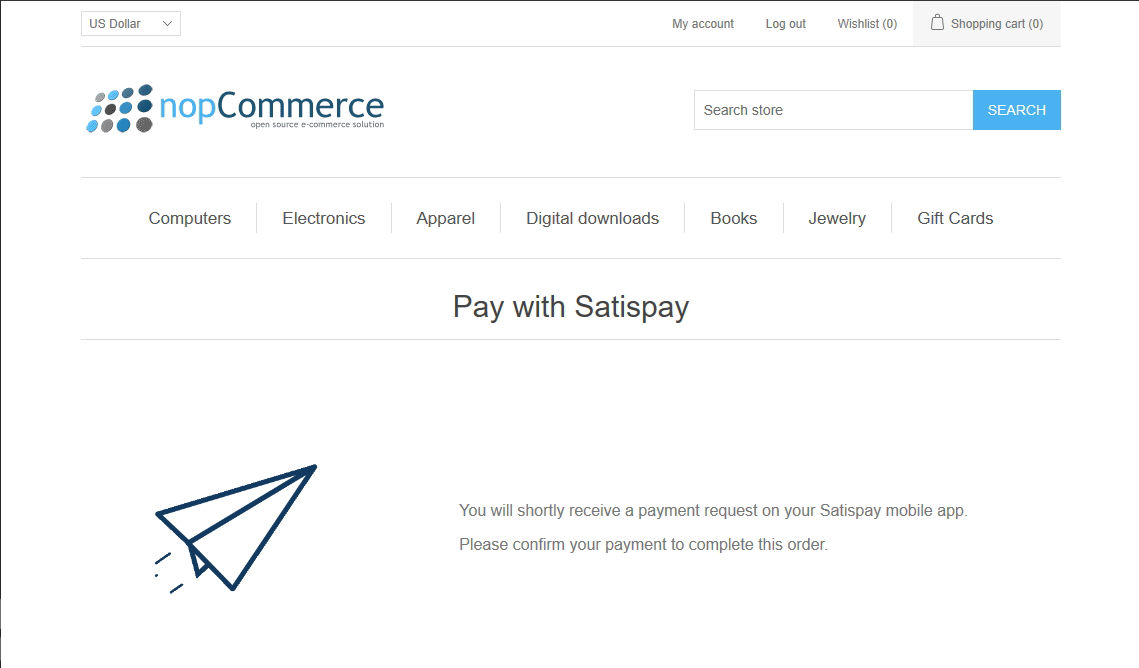 Picture of Satispay payment module