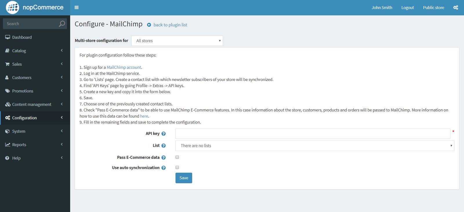 Picture of MailChimp synchronization plugin